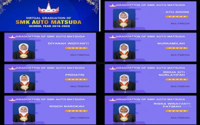 Virtual Graduation Of SMK Auto Matsuda School Yeard 2019-2020.